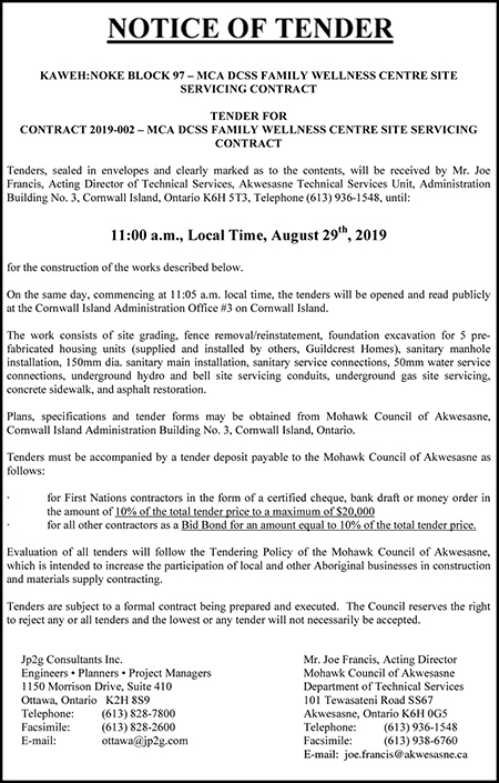 MCA Tender Notice - Indian Time